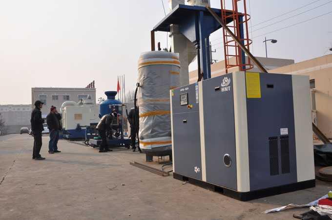 内部喷砂行业空压机案例
