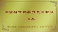 国家科技局科技创新项目一等奖
